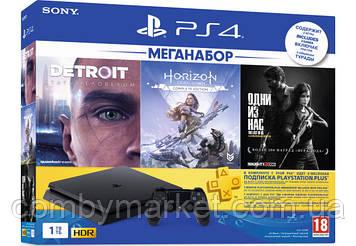 Ігрова приставка PlayStation 4 Pro 1Tb Black (CUH-2208B) HZD+DET+TLOU+PSPlus 3М
