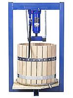 Пресс для сока 25литров ручной гидравлический с дубовой корзиной. Соковыжималка для яблок, винограда, фруктов