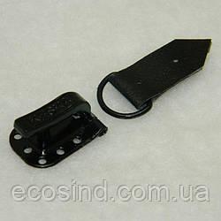 """Крючки для одежды """"Шубные"""" (24mm) черные, Китай (657-Л-0067)"""