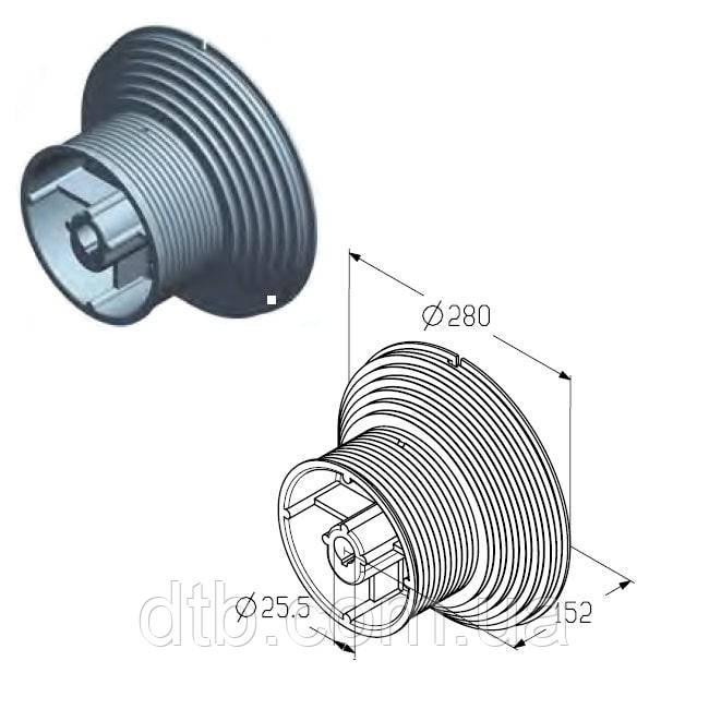 Барабан для намотки троса ворот Alutech гаражных и промышленных секционных CD164H-5 / 4