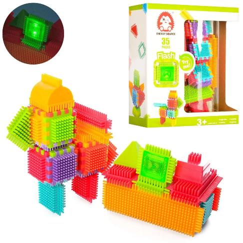 Конструктор їжачок, голчастий, 35 елементів, світло, в коробці, 24-28-10 см, BA5001
