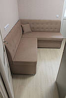 Розкладний диванчик в маленьку кухню (Колір какао)