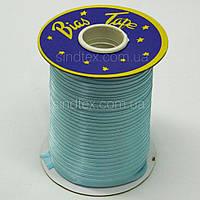 3075 Косая бейка атласная, (голубого цвета) (6-2274-М-3075)