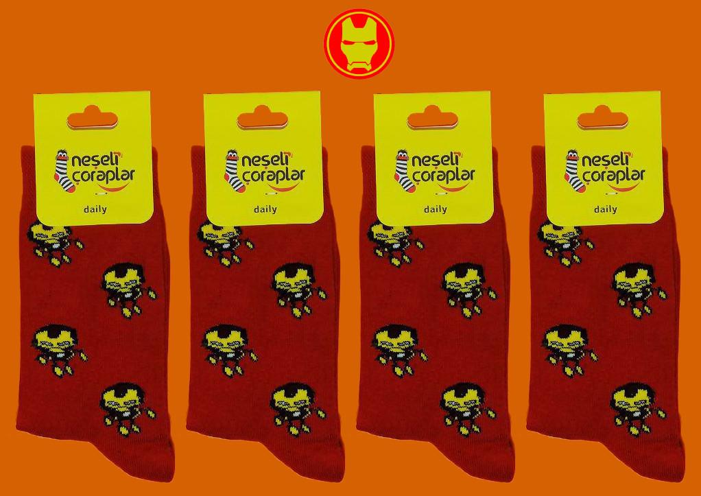 Носки Neseli Daily Железный человек красные 5962