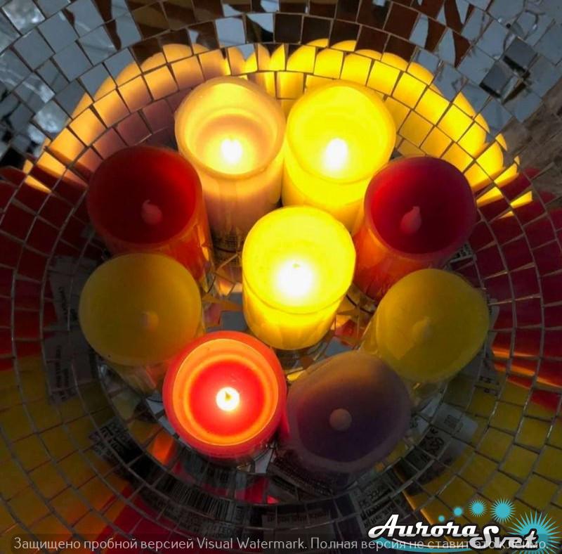 Свеча декоративная. Световой декор. Светодиодные светильники от Aurorasvet.