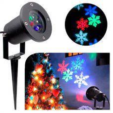 Лазер диско фонарь новогодний 326-1 (1 изображение) проектор