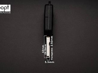 MERCEDES выкидной ключ 3 кнопки (корпус), лезвие HU64P заготовка