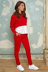 Жіночий костюм-двійка джерсі №420