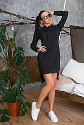 Спортивне плаття з двуніткі з капюшоном №471