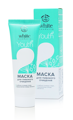 Маска для глубокого очищения серии Youth White Mandarin, 50 мл