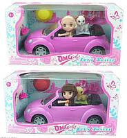 Кукла с машиной 65050 (18/2)  2 вида, в коробке