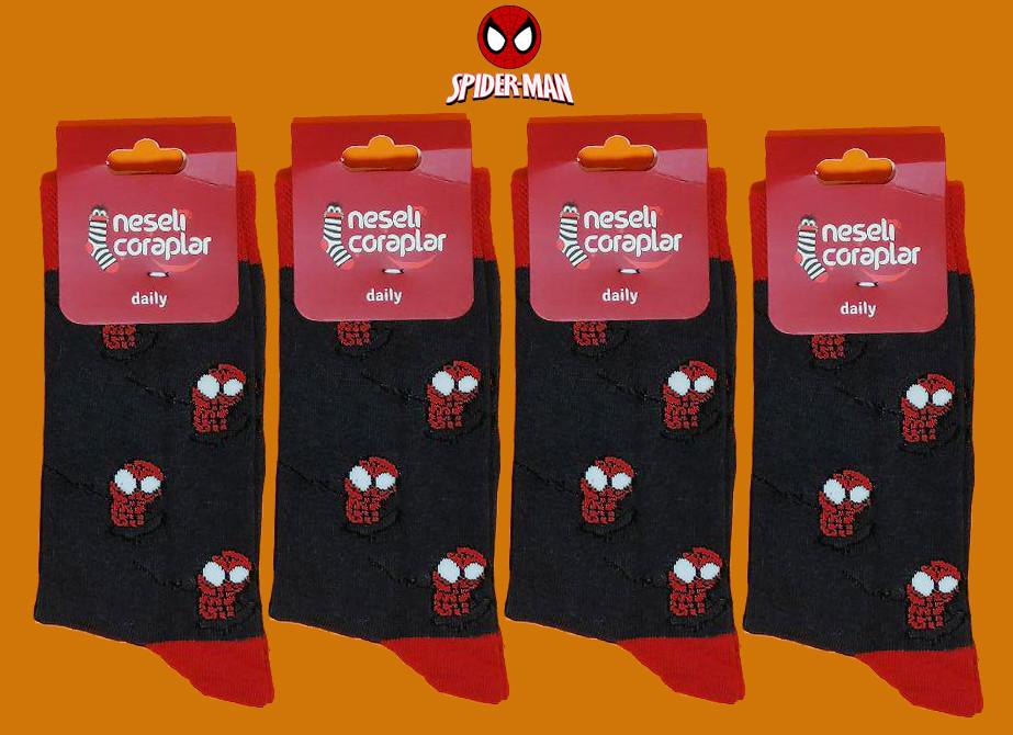 Носки Neseli Daily Человек паук серые 5963