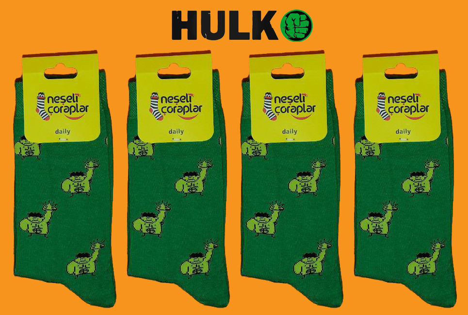 Носки Neseli Daily Халк зелёные 5966