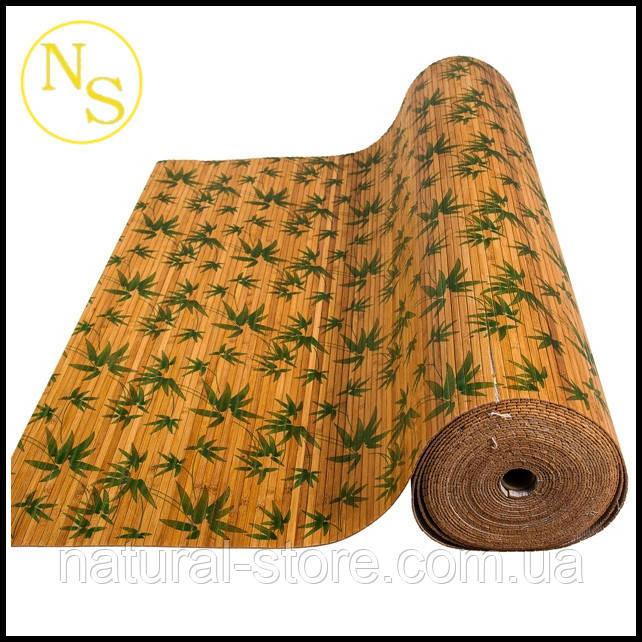 """Бамбуковые обои лак """"Листья бамбука"""" 150см TM """"Safari"""""""