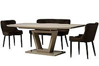 Раздвижной стол ТМ-63 капучино 160/200 Vetro Mebel