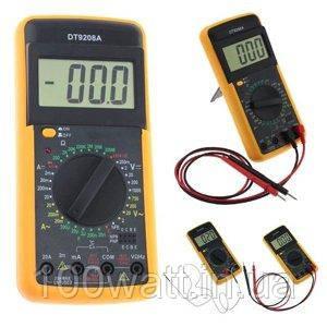 Мультиметр цифровой DT-9208A с термопарой GAV 515