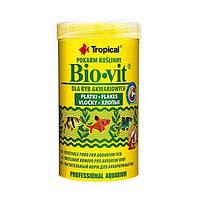 """Растительный корм для аквариумных рыб """"Bio-vit"""" (хлопья-500ml /100g) Tropical™"""