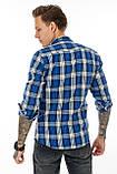 Рубашка мужская Gelix 1184 в клетку синяя, фото 6