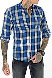 Рубашка мужская Gelix 1184 в клетку синяя, фото 5