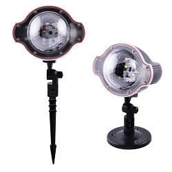 Лазер диско фонарь новогодний XL-809 Snow белый свет