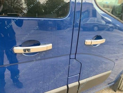 Накладки на ручки дверей Opel Vivaro 2014-2019, турецкая сталь