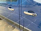 Накладки на ручки дверей Opel Vivaro 2014-2019, турецкая сталь, фото 2