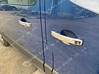 Накладки на ручки дверей Opel Vivaro 2014-2019, турецкая сталь, фото 4