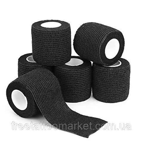 Бинт эластичный бандажный (черный)