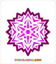 Трафарет + формочка-вырубка для пряников Снежинка №43
