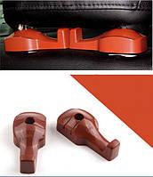 Крючки держатель для сумок в авто. Органайзер для пакетов на сидение автомобиля (коричневые)
