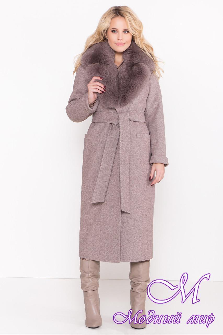 Женское длинное зимнее пальто с натуральным мехом (р. S, M, L) арт. В-83-73/44574