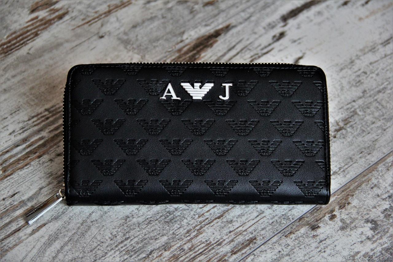 Мужской кошелек - портмоне, черного цвета. ТОП КАЧЕСТВО!!! Реплика