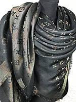 Большой платок Louis Vuitton с люрексом, фото 1