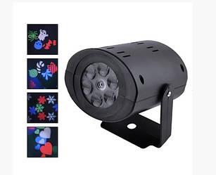 Лазерный диско проектор ST 7006 / W665 12LED елочки и снежинки