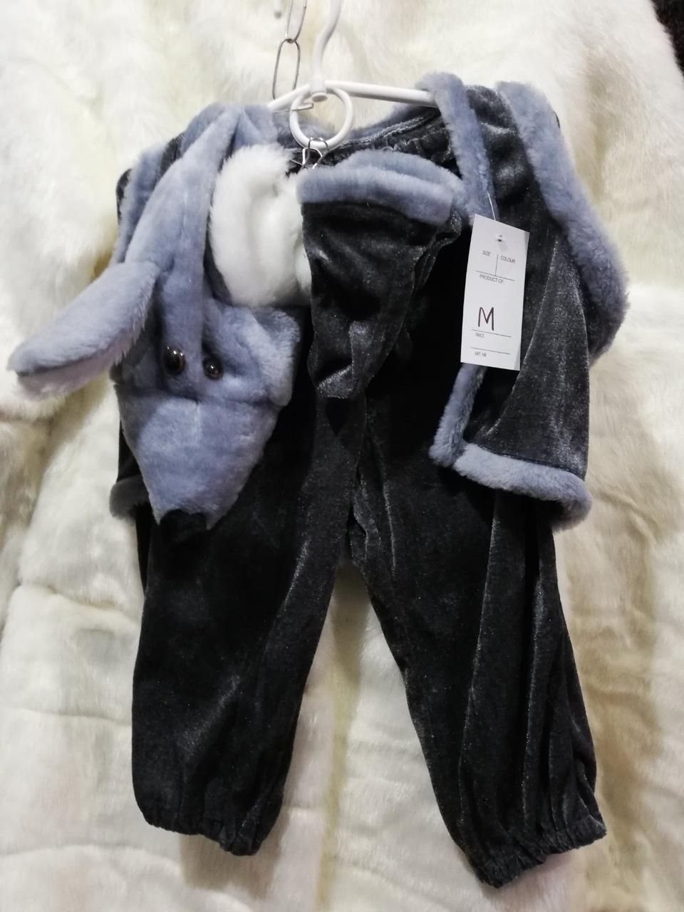 Детский костюм мышонка ,крысы (серый, белый)от 107 до127рост