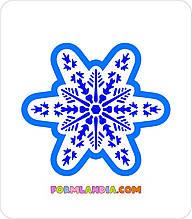 Трафарет + формочка-вырубка для пряников Снежинка №42