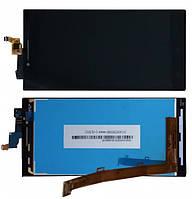 Дисплей модуль Lenovo P70 в зборі з тачскріном, чорний