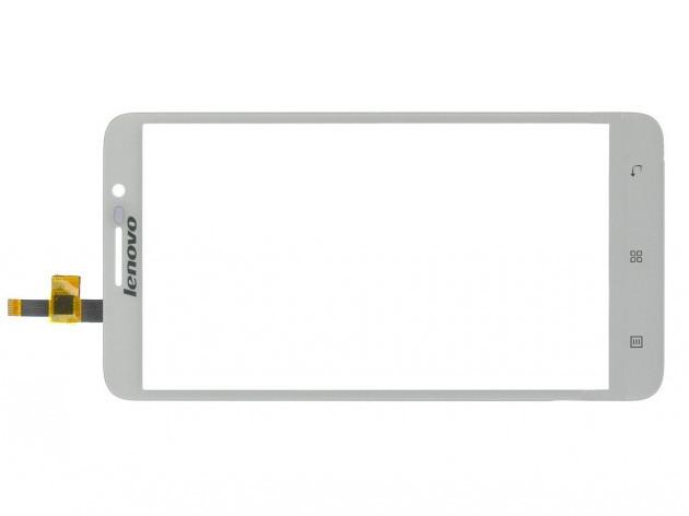 Сенсорный экран для смартфона Lenovo A850, тачскрин белый