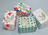 Коробка для упаковки одного тістечка 120*85*90 (з віконцем) зима, фото 4