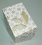 Коробка для упаковки одного тістечка 120*85*90 (з віконцем) зима, фото 2