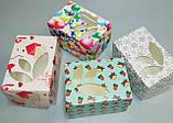 Коробка для упаковки одного тістечка 120*85*90 (з віконцем) зима, фото 5