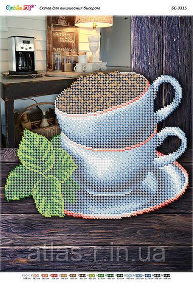 """А3 """"Натюрморт кава (част. віш.)"""".Схема для вишивки бісером"""