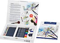 Подарочный набор цветных карандашей Faber-Castell Goldfaber 17 цветов + аксессуары, 114714