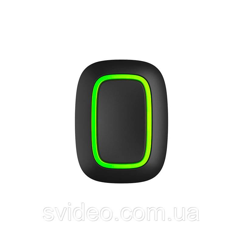 Ajax Button black – беспроводная тревожная кнопка – черная