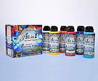 Набор жидкого акрила Флюид арт (Пюринг) Acrylic Pouring Paint Fluid Art Cadence, 6*120мл, фото 1
