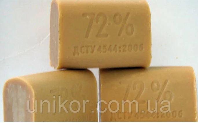Мыло хозяйственное коричневое 72%, Украина.