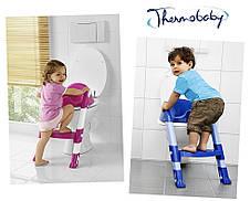 Детское сиденье на унитаз со ступенькой Thermobaby pink, фото 2