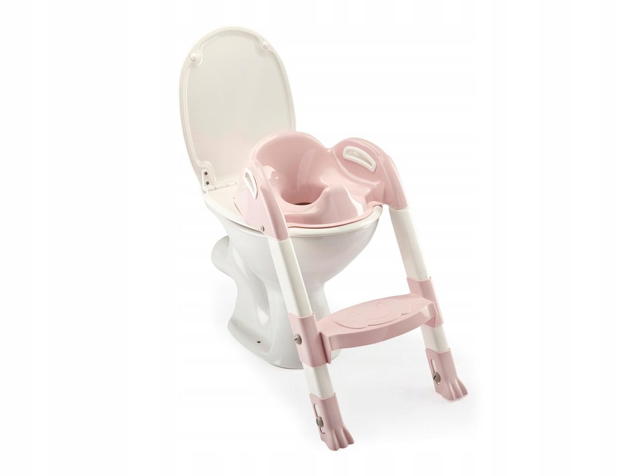Детское сиденье на унитаз со ступенькой Thermobaby pink