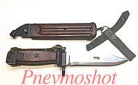 ММГ штык нож клинковый 6x4 к АКМ и АК-74 (бакелит рукоять,ножны)