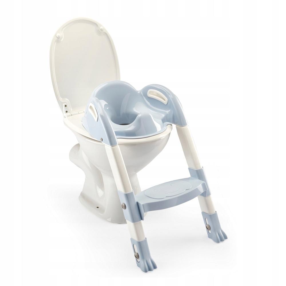 Детское сиденье на унитаз со ступенькой Thermobaby light blue